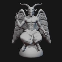 Thumbnail.png Télécharger fichier STL Baphomet • Modèle pour impression 3D, fidad