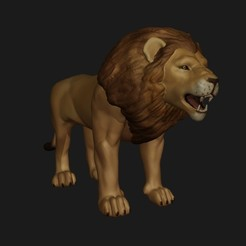1.jpg Download STL file Lion • 3D printing model, fidad