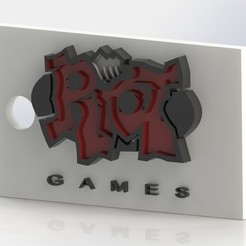 pp1.JPG Télécharger fichier STL Riot Old Logo -Keychain (LOL) • Objet à imprimer en 3D, GokBoru