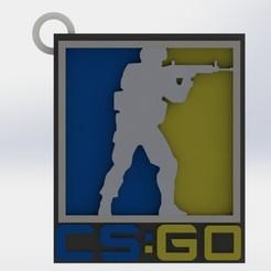 2.JPG Télécharger fichier OBJ Porte-clés CS-GO - (Contre-attaque offensive mondiale) • Design à imprimer en 3D, GokBoru