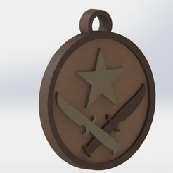 preview.JPG Download free OBJ file CS-GO Terrorist - Keychain • 3D printing template, GokBoru