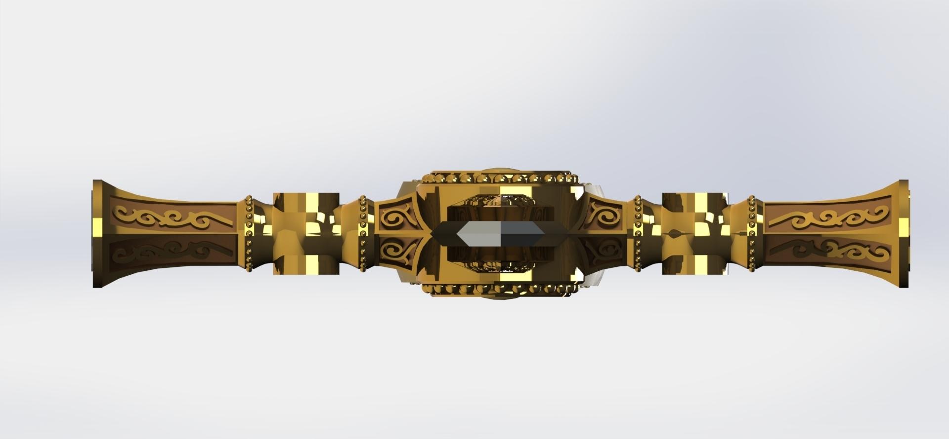 preview6.JPG Download STL file Masonic Ceremony Sword-Ready 3D Print • 3D printable template, GokBoru
