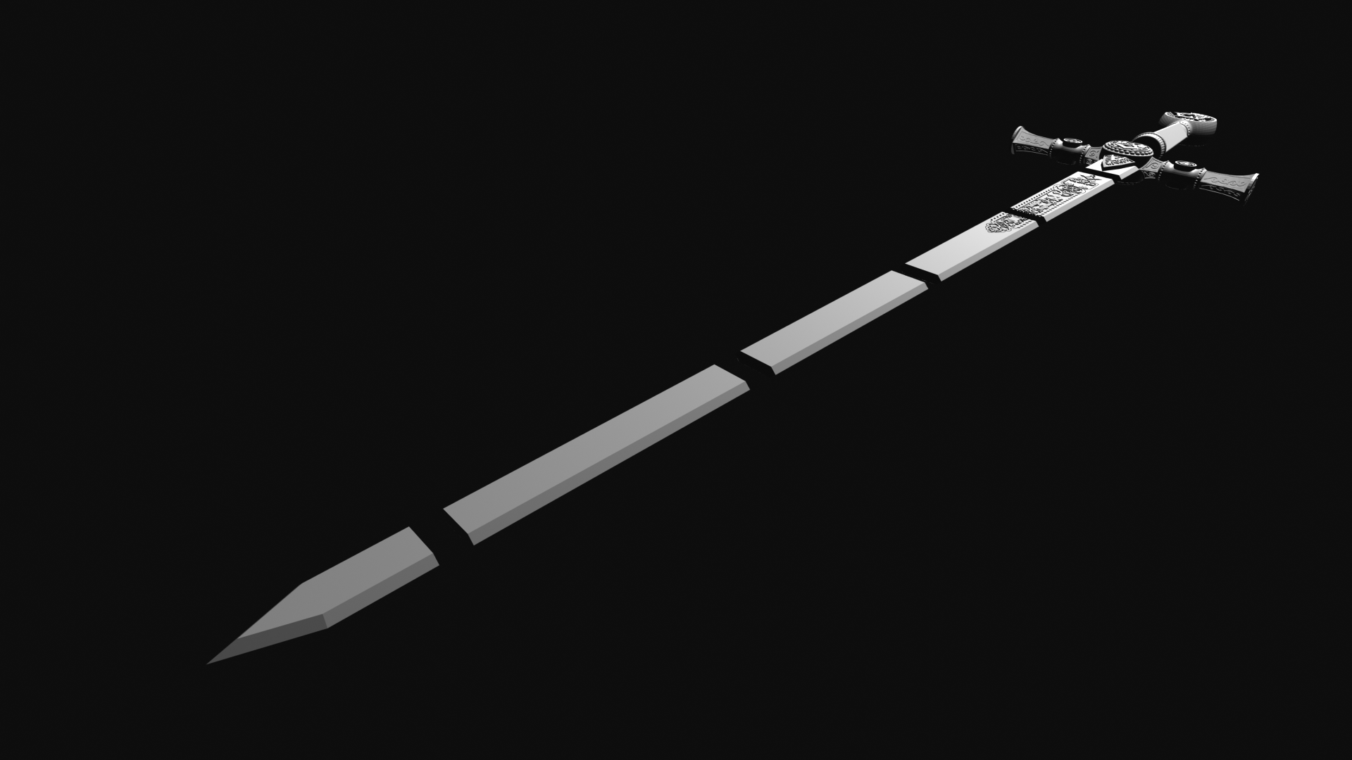 masonic2.png Download STL file Masonic Ceremony Sword-Ready 3D Print • 3D printable template, GokBoru