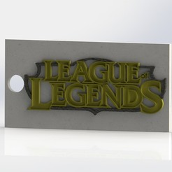 preview1.JPG Télécharger fichier STL gratuit League Of Legends (LOL) - Porte-clés • Design pour impression 3D, GokBoru