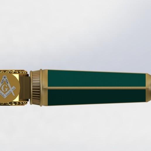 preview17.JPG Download STL file Masonic Ceremony Sword-Ready 3D Print • 3D printable template, GokBoru