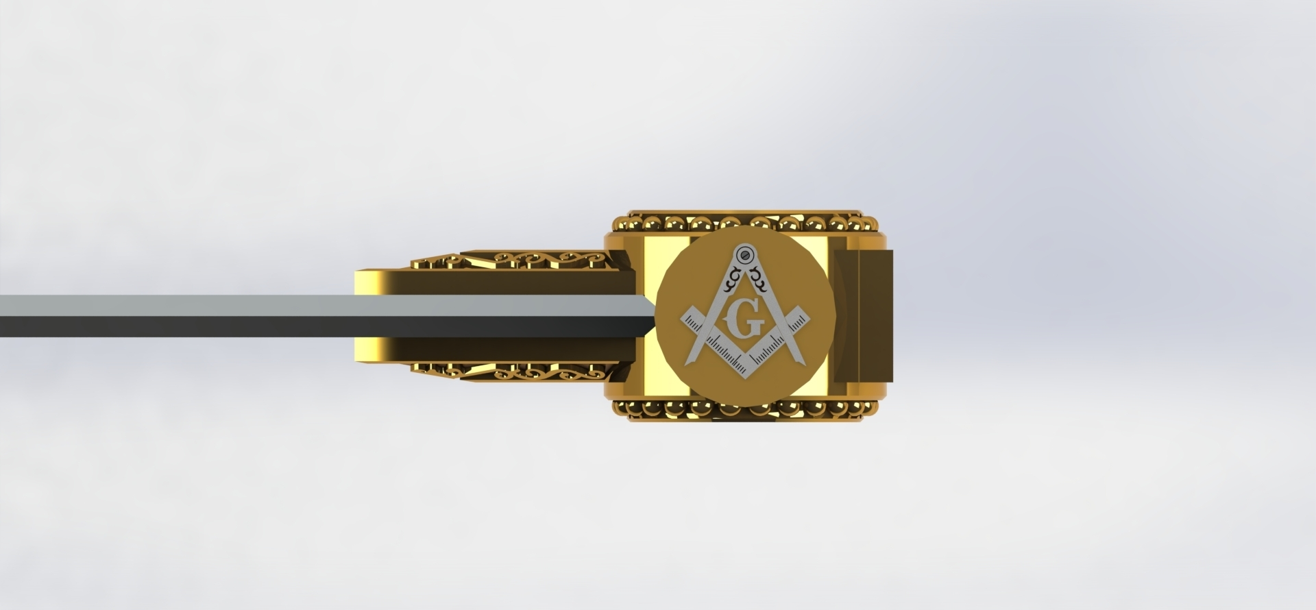 preview 8.JPG Download STL file Masonic Ceremony Sword-Ready 3D Print • 3D printable template, GokBoru