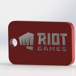 p1.JPG Télécharger fichier STL Riot New Logo - Porte-clés (LOL) • Modèle à imprimer en 3D, GokBoru