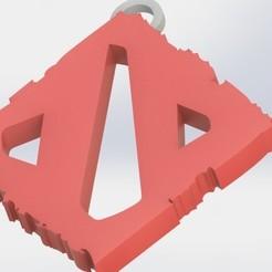 preview2.JPG Télécharger fichier OBJ Logo DOTA2 -Porte-clés • Objet pour imprimante 3D, GokBoru