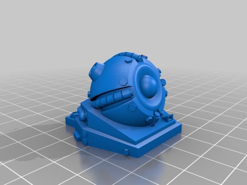 5b14ba9d732dae62c0649b6d8cca1b73.png Télécharger fichier STL gratuit Tourelle Rift Tech Grav REMIX/rescale+pince de montage pour 1:56/28mm • Design pour imprimante 3D, Ziddan
