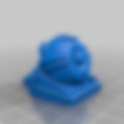 laser_turret_b_1-56_scale%2Bmount_hole.stl Télécharger fichier STL gratuit Tourelle Rift Tech Grav REMIX/rescale+pince de montage pour 1:56/28mm • Design pour imprimante 3D, Ziddan