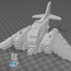 jetfighter.png Télécharger fichier STL gratuit AndreTheGiant à l'échelle 28mm, fendue avec des trous d'alignement de 2mm. • Objet imprimable en 3D, Ziddan