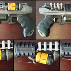 painted-resize.png Download free STL file Fallout Glock 86 Plasma Pistol by 3nikhey made printable • 3D printer object, Ziddan