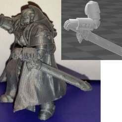 Preview.jpg Télécharger fichier STL gratuit Bras reposant sur une épée gainée • Modèle à imprimer en 3D, Ziddan