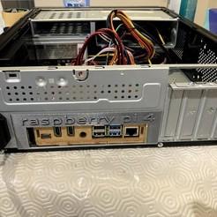 IMG_5966.jpg Télécharger fichier STL gratuit Framboise Pi 4 couverture arrière mini-ITX • Plan pour impression 3D, MikeRuby