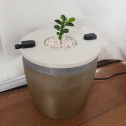 maceta3.png Télécharger fichier STL Cache-pot hydroponique HidroPot : Cache-pot hydroponique • Plan pour imprimante 3D, Escolapio