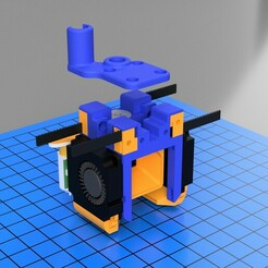 carro mosquito V2 v18 - 1.jpg Download 3MF file Mosquito hotend adapter for Two Trees Sapphire Plus/Pro • Model to 3D print, Tiomel