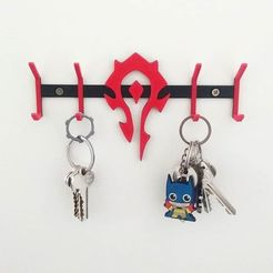 horde.jpg Download STL file key hanger horde - warcraft • Object to 3D print, sergioazoc