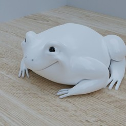 crapeau6.jpg Download free STL file Frog, simple figurine and free design to paint (or not) • 3D printer design, Tomsculpt