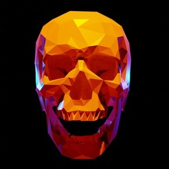 skull_deco_4.jpg Download OBJ file Lowpoly Human Skull design stl and OBJ deco • 3D print model, Tomsculpt