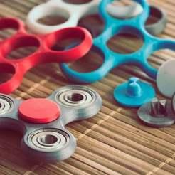 Fidget-Spnners.jpg Download free STL file Fidget Spinner Thumbpad Pin • 3D printing model, theFPVgeek