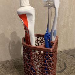 IMG_9993.JPG Download free STL file Toothbrush and toothpaste holder • Template to 3D print, 3dNova