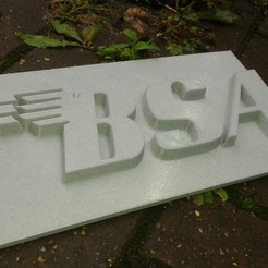 20200829_162919.jpg Download STL file BSA BIRMINGHAM SMALL ARMS 3D WALL BADGE SUPPORTLESS • 3D printing model, Stress-Tech