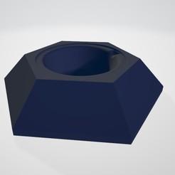 HexagonPlate.jpg Download free STL file Hexagonal Cat Plates Holders • 3D printable template, Turulcky
