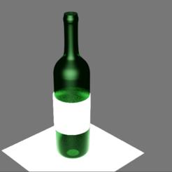 Bouteille.PNG Télécharger fichier STL gratuit Bouteille de vin 3D • Modèle imprimable en 3D, etiennewallet2019