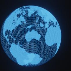 Terre hologrammme.PNG Télécharger fichier STL Terre hologramme • Objet pour imprimante 3D, etiennewallet2019