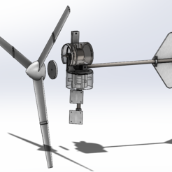 Assembly_Picture.PNG Download free STL file Wind Turbine (Blades Only) • 3D printable template, raspberrypicardbox