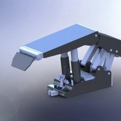 Izometric View - Main Pistons Max.JPG Download STL file LTCC (Longwall Top Coal Caving) Machine Model • Object to 3D print, AKGDesign