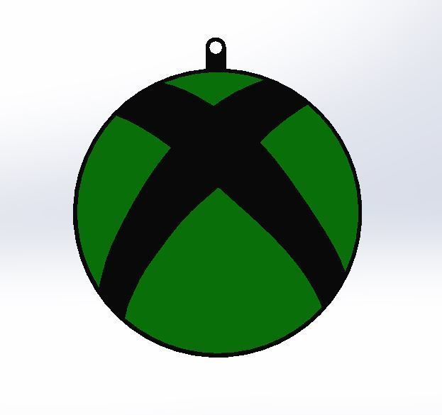 Front View.JPG Download free STL file Xbox Keyring • 3D printable object, AKGDesign