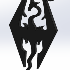 Skyrim.PNG Download STL file Skyrim Keyring • 3D print model, AKGDesign