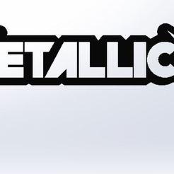 Front View.JPG Download STL file Metallica Keyring • Design to 3D print, AKGDesign