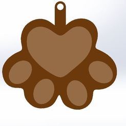 Front View.JPG Download free STL file Paw Keyring • 3D printing object, AKGDesign