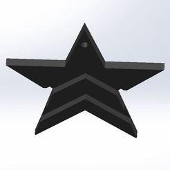Top View.JPG Download STL file Mass Effect Renegade Big Star Keyring • 3D printer model, AKGDesign