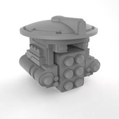 RocketPod.17.jpg Download OBJ file Greater Good Intelligent Rocket Pod • 3D printable template, RainformStudios
