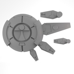 FallOfTitansShield.15.jpg Download STL file Greater Good LongVision Sword and Shield • Template to 3D print, RainformStudios