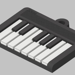 3.jpg Download STL file Keychain Piano • 3D printing design, deaa375