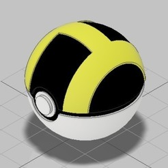 Ultraball_completo_01.jpg Download STL file Collection 1.1 Pokeball Greatball Ultraball models • 3D print object, deaa375