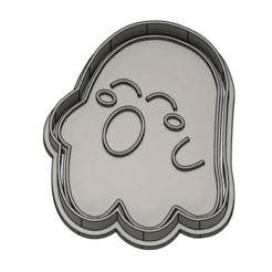 1ghost.PNG Download STL file Ghost halloween cookie cutter - 2pcs. • 3D print model, vejarandresl