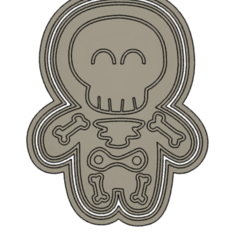 1Ske.PNG Download STL file Skeleton halloween cookie cutter - 2pcs. • 3D print model, vejarandresl