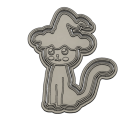 cata.PNG Download STL file Cat Halloween Cookie Cutter • 3D printer object, vejarandresl