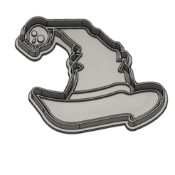 gorroa.PNG Download STL file Witch hat Halloween Cookie Cutter • 3D printer object, vejarandresl