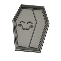 1coffin.PNG Download STL file Coffin halloween cookie cutter - 2pcs. • 3D print model, vejarandresl