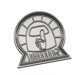 shhha.PNG Download STL file AmongUs Cookie Cutter • 3D print object, vejarandresl