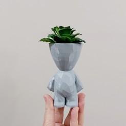 bob em pé.jpg Télécharger fichier STL Vase Bob Géométrique Low Poly Style Robert Plant • Plan à imprimer en 3D, martamzt