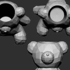bearpot.jpeg Télécharger fichier STL Ours Poly faiblement géométrique • Plan pour imprimante 3D, martamzt