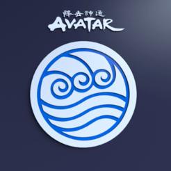 Télécharger fichier STL Dessous de verre de la tribu de l'eau d'ATLA • Modèle à imprimer en 3D, gusmaia