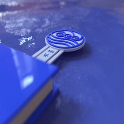 Water Tribe Keychain0003.png Download STL file ATLA Water Tribe Bookmark • 3D print design, gusmaia
